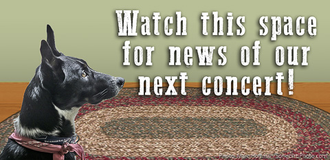 Watch this space for news of our next house concert!