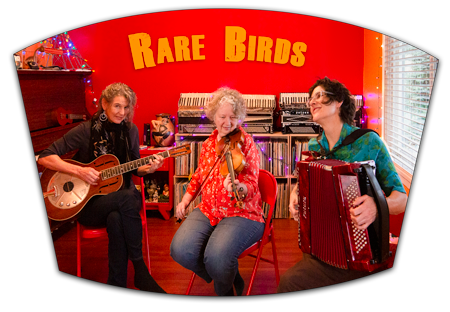 Reserve seats for RARE BIRDS—Nova Devonie, Ruthie Dornfeld, and Cyd Smith—March 16, 2019, at Duvall House Concerts.