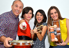 Choro das Tres performs at Duvall House Concerts on September 1, 2019.