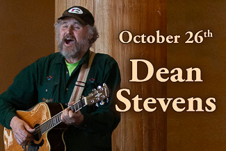 Dean Stevens performs at Duvall House Concerts on October 26th, 2019.