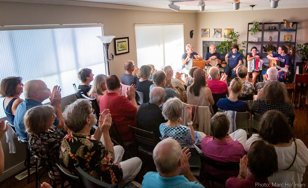 Choro das 3 played at Duvall House Concerts on Sept. 1, 2019.